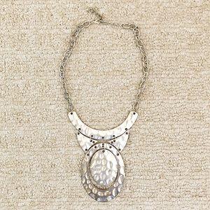 Vintage silver hand-hammered tribal necklace